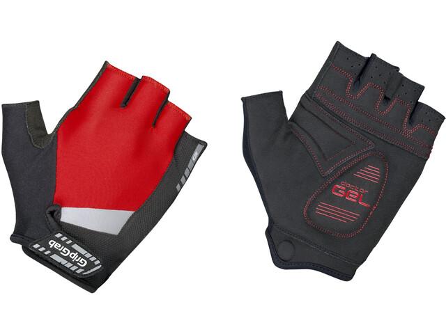 GripGrab SuperGel Gevoerde Halve Vinger Handschoenen, zwart/rood